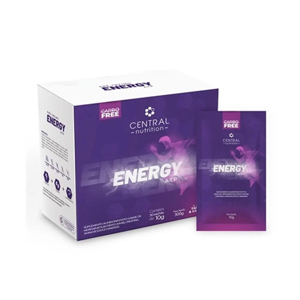 Energy ATP 30 Sachês Limão e Café Verde - Central Nutrition  - KFit Nutrition