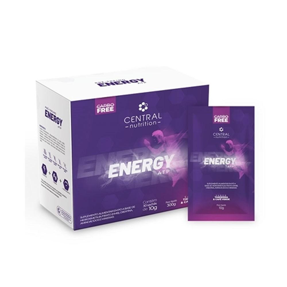 Energy ATP 30 Sachês Tangerina Café Verde -Central Nutrition  - KFit Nutrition