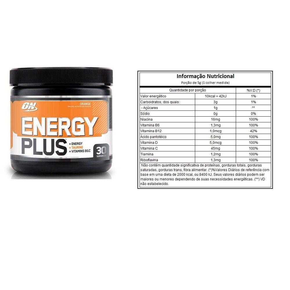 Energy Plus - Optimun Nutrition - ORANGE 150G  - KFit Nutrition
