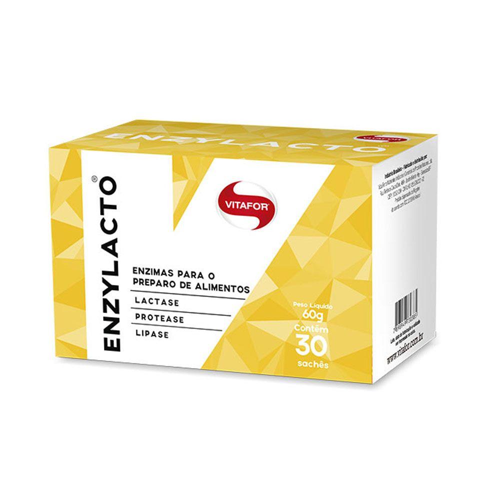 Enzylacto 30 sachês 2g - Vitafor  - KFit Nutrition