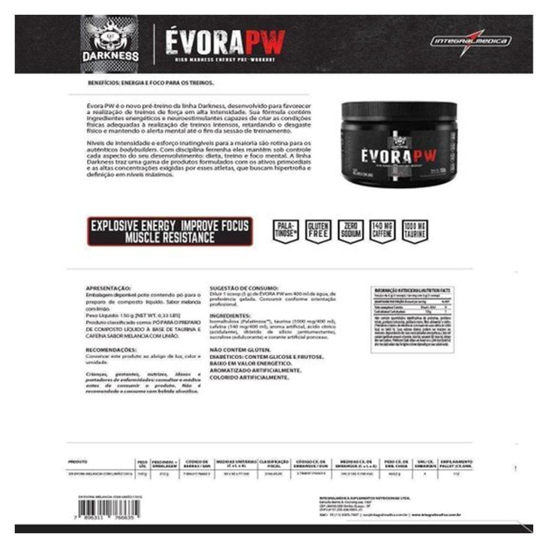 Evora Pw Limao 150g - Darkness  - KFit Nutrition