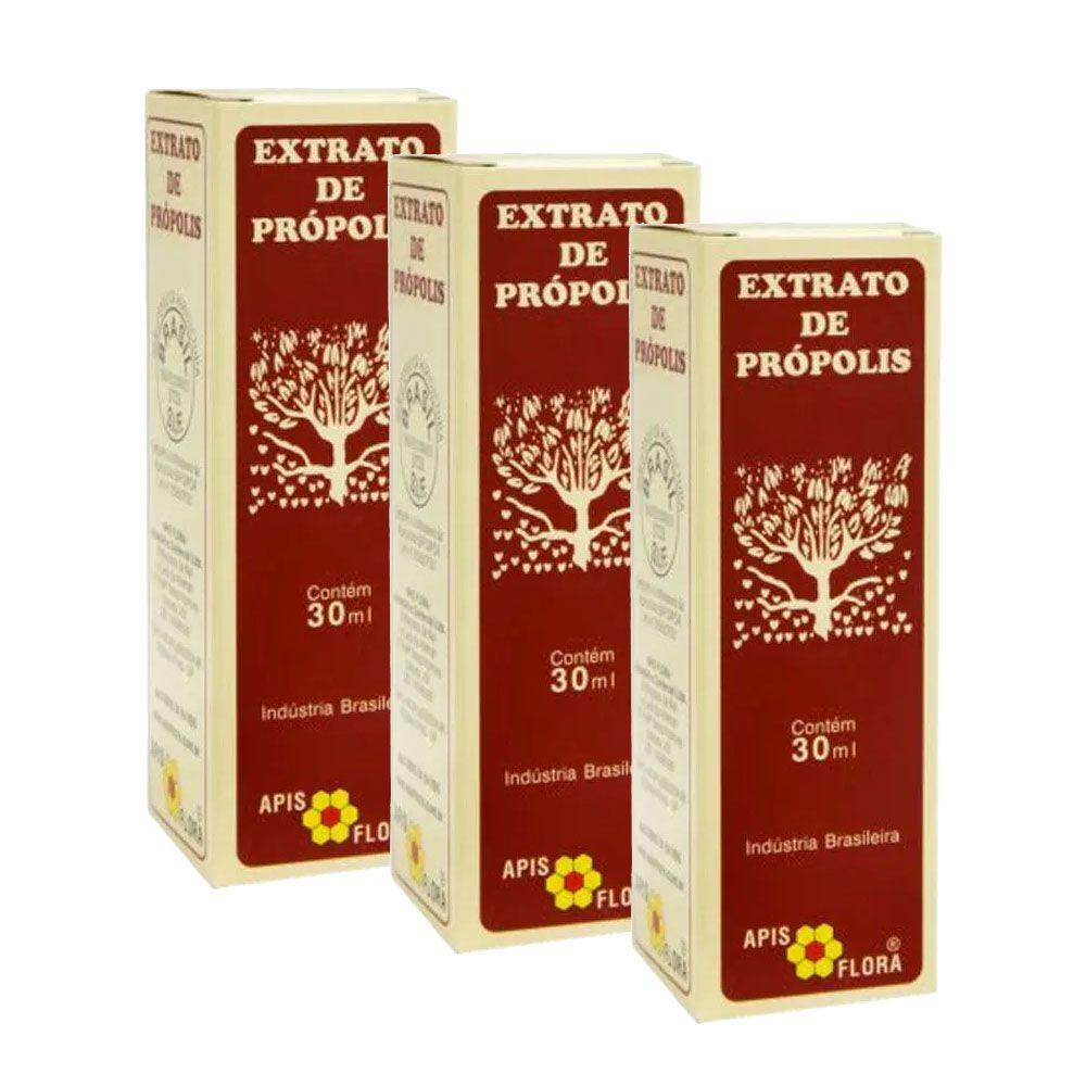 Extrato de Própolis 30 ml - Apis Flora 3 Un  - KFit Nutrition