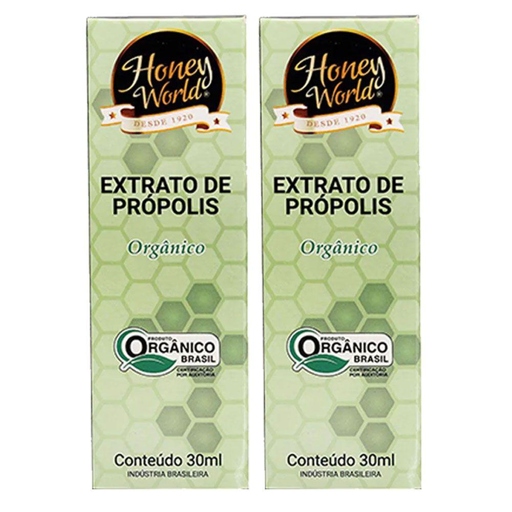 Extrato de Própolis Orgânico 30ml Honey World 2 Un  - KFit Nutrition