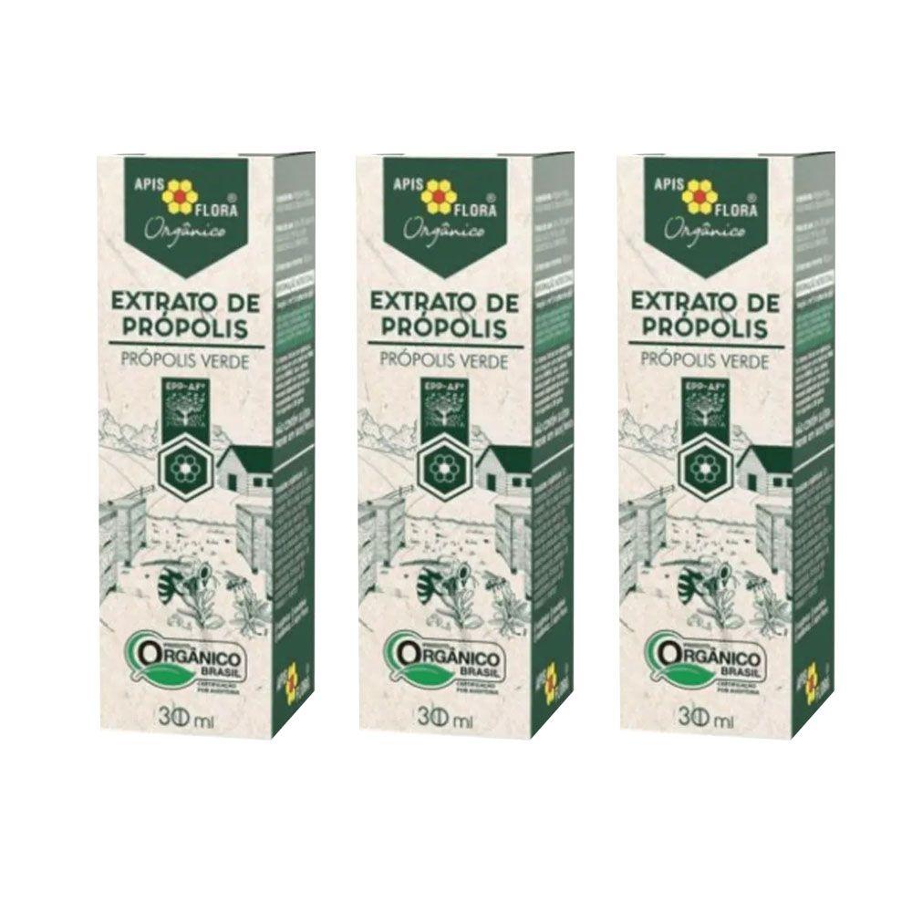 Extrato de Própolis Verde Orgânico 30 mL - BR 3 Un  - KFit Nutrition