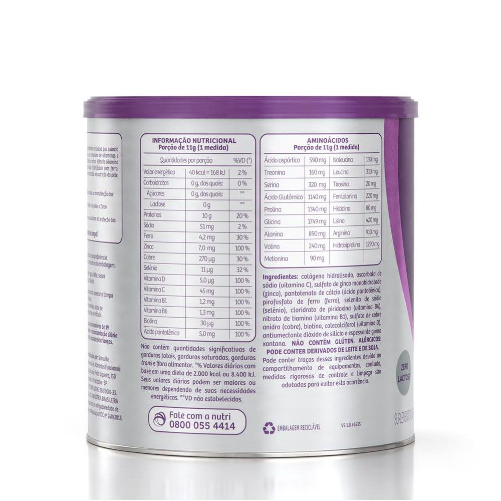 Forcee Hair and Nails Neutro 330g - Sanavita  - KFit Nutrition