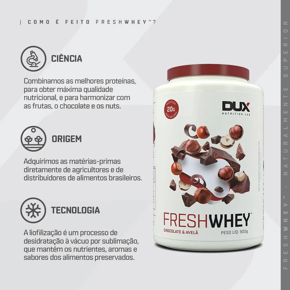 Fresh Whey Chocolate e Avelã 900g - Dux  - KFit Nutrition