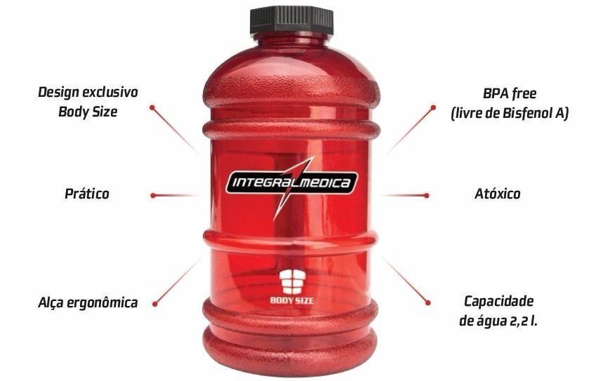 Galão 2L Body Size Vermelho  - KFit Nutrition