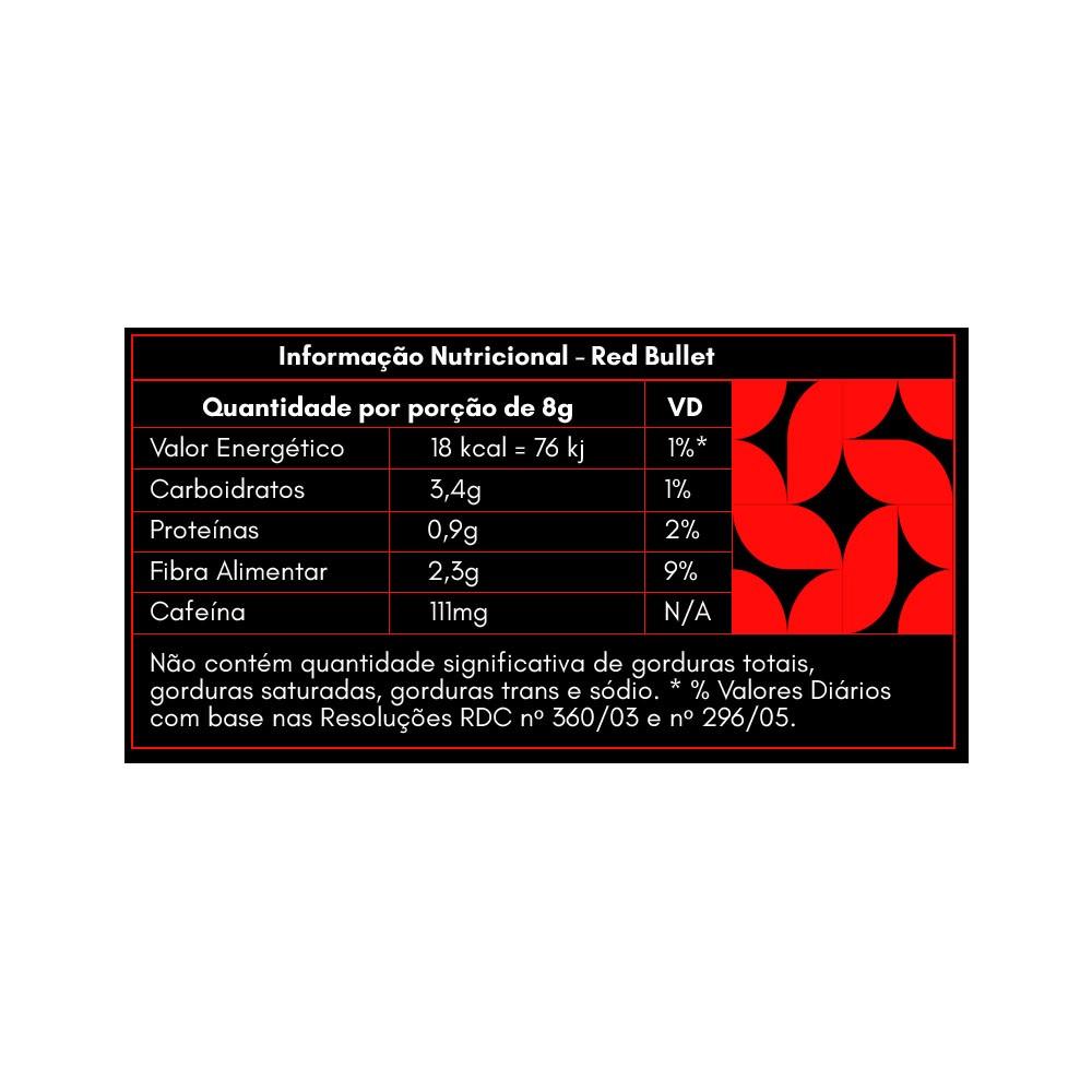 Garrafa 100ml e Red Bullet Mighty Shots 14g contém 7un  - KFit Nutrition