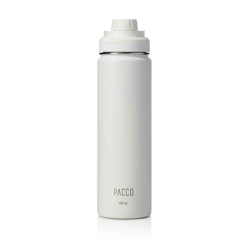 Garrafa Termica Hydra Branca 650ml - Pacco  - KFit Nutrition