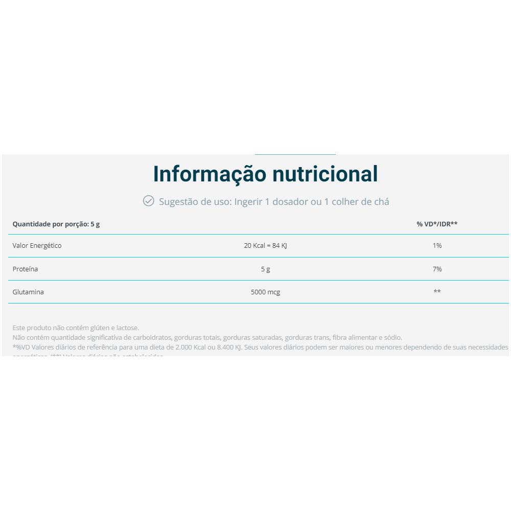 Glutamina 100% Pura 300g - Vital Âtman  - KFit Nutrition