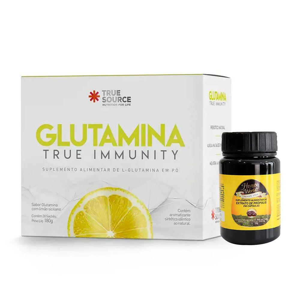Glutamina True Immunity - True Source + Própolis 60 Caps  - KFit Nutrition