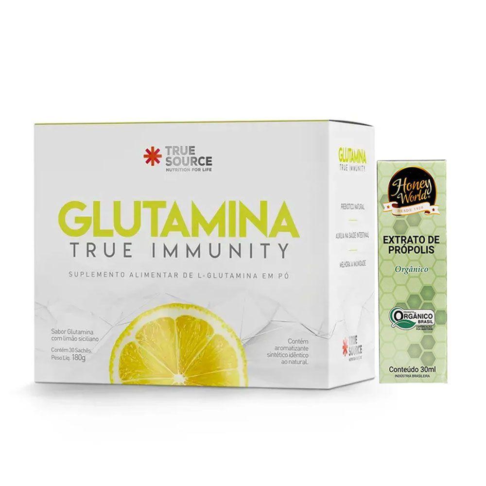 Glutamina True Immunity - True Source + Própolis Orgânico  - KFit Nutrition