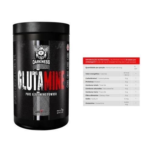 Glutamine 1kg Darkness  - KFit Nutrition