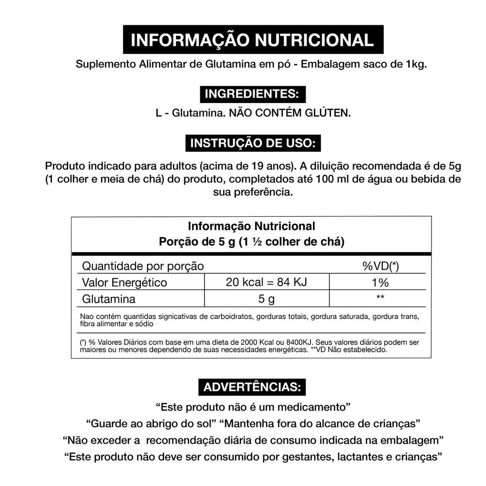 Glutamina Fermentada Platinum Series 1Kg Pouch - Adaptogen  - KFit Nutrition