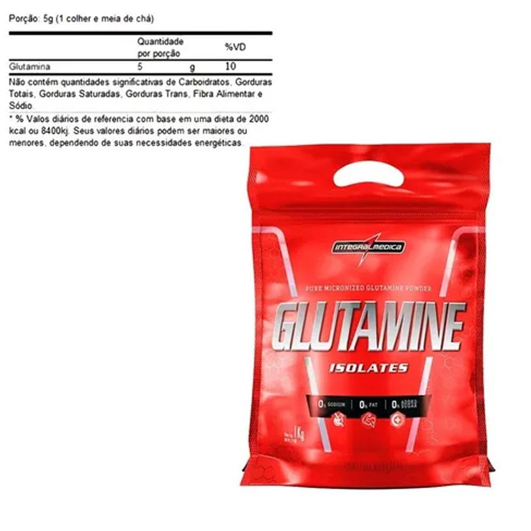 Glutamine Natural Pouch 1kg - Integral Médica  - KFit Nutrition