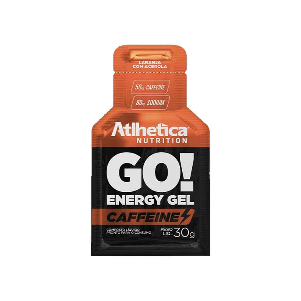 Go Energy Gel Caffeine Laranja com Acerola - 10 Sachê Atlhetica Nutrition  - KFit Nutrition