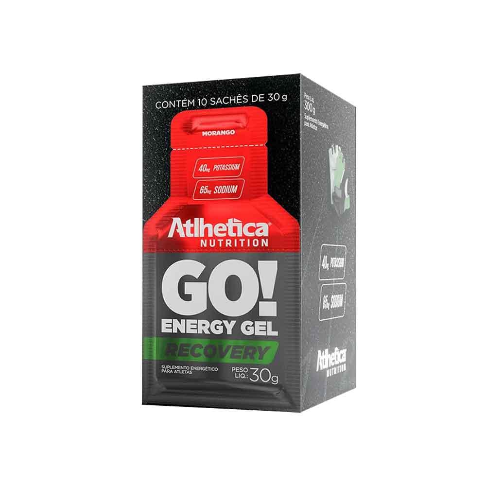 Go Energy Gel Morango - 10 Sachê Atlhetica Nutrition  - KFit Nutrition