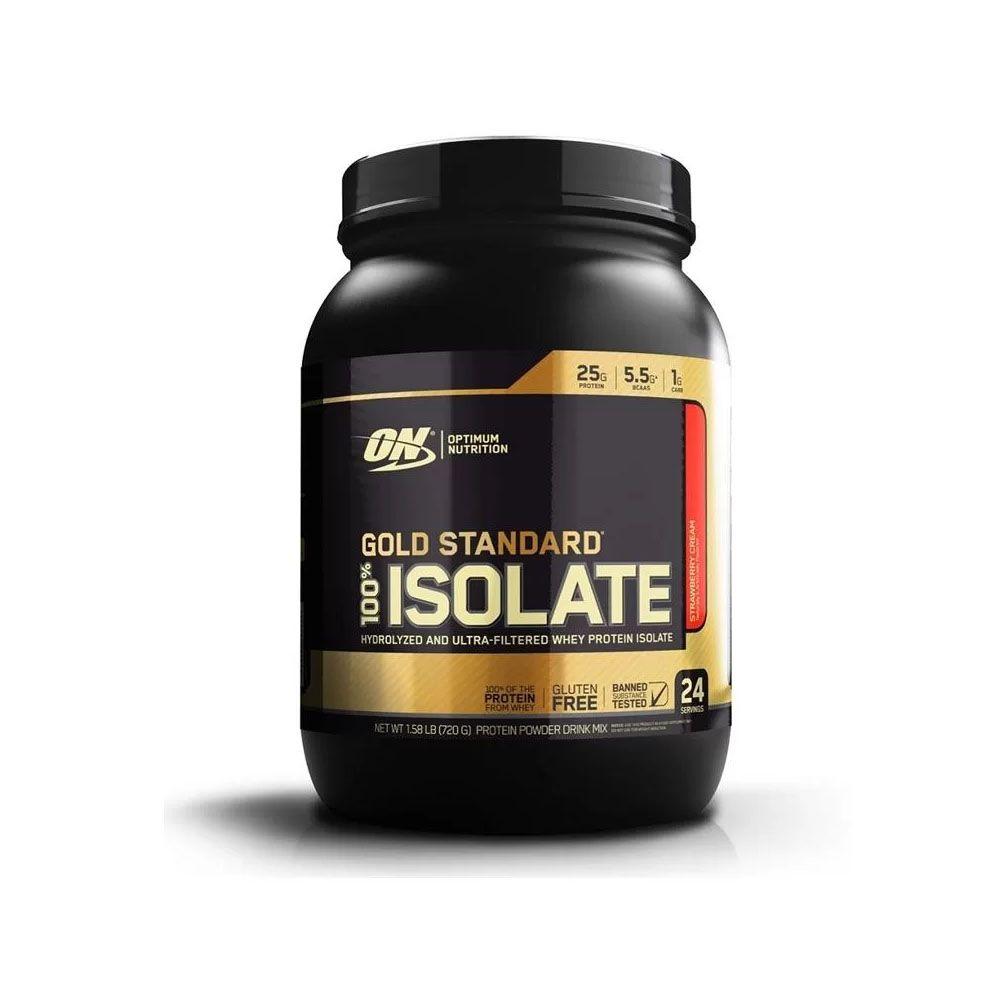 Gold Standard 100% isolate Morango 720g Optimum - Venc 10/2020  - KFit Nutrition