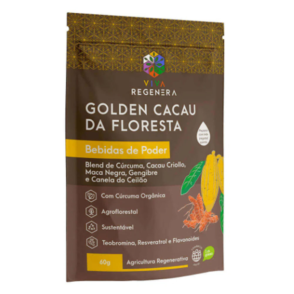Golden Cacau da Floresta 60g - Viva Regenera  - KFit Nutrition