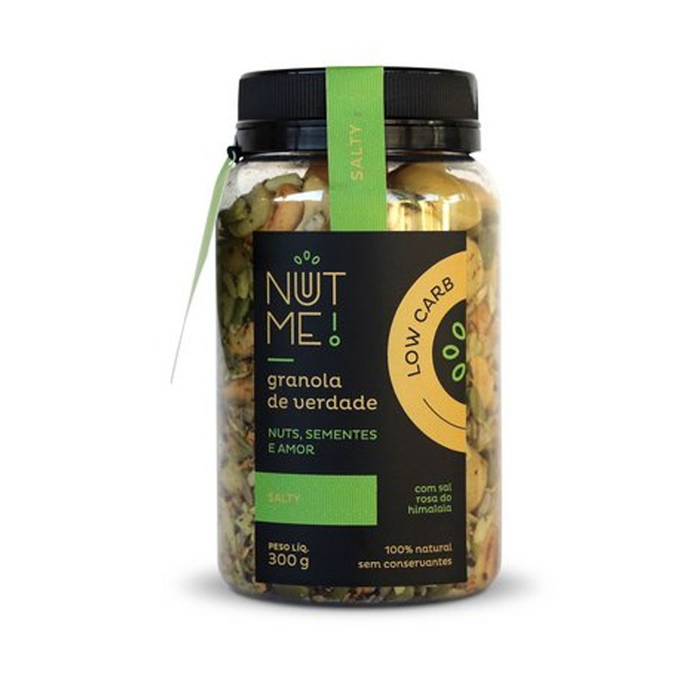 Granola Salty 300g Low Carb - NUT ME  - KFit Nutrition