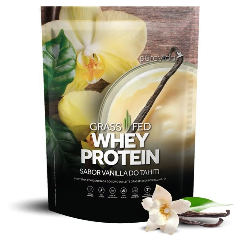 Grass Fed Whey Protein Vanilla do Tahiti 450g Puravida  - KFit Nutrition