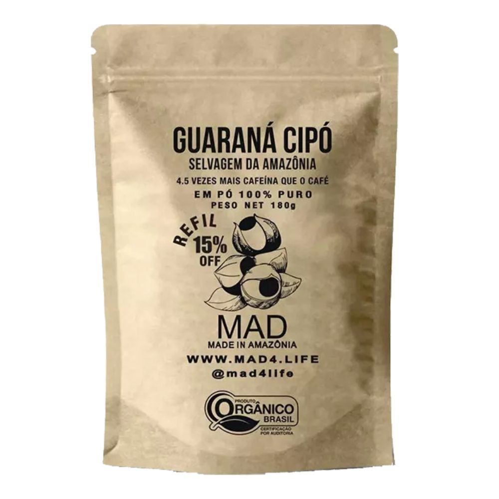 Guaraná Cipó 180g Pó Puro Refil - Mad  - KFit Nutrition