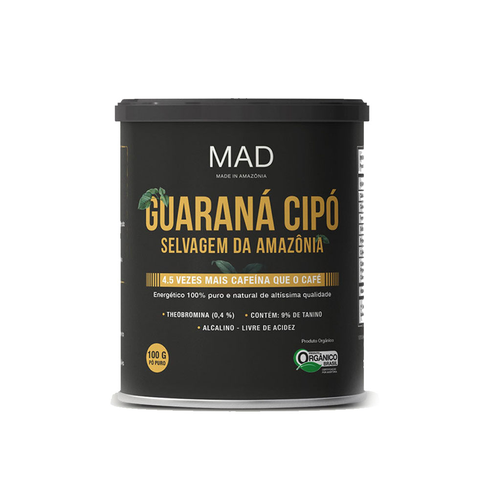 Guaraná Cipó 250g Pó Puro - MAD  - KFit Nutrition