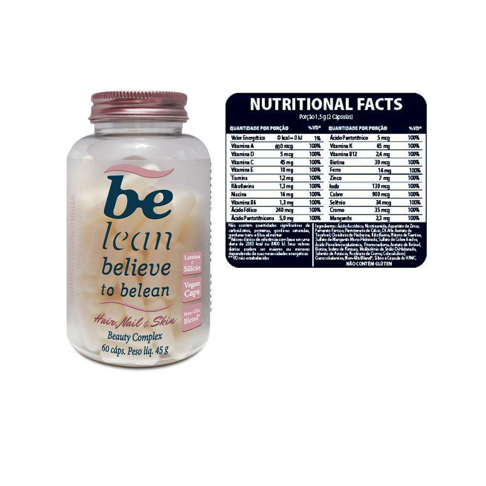 Hair Nail e Skin 60 Cápsulas 45g - Be Lean  - KFit Nutrition