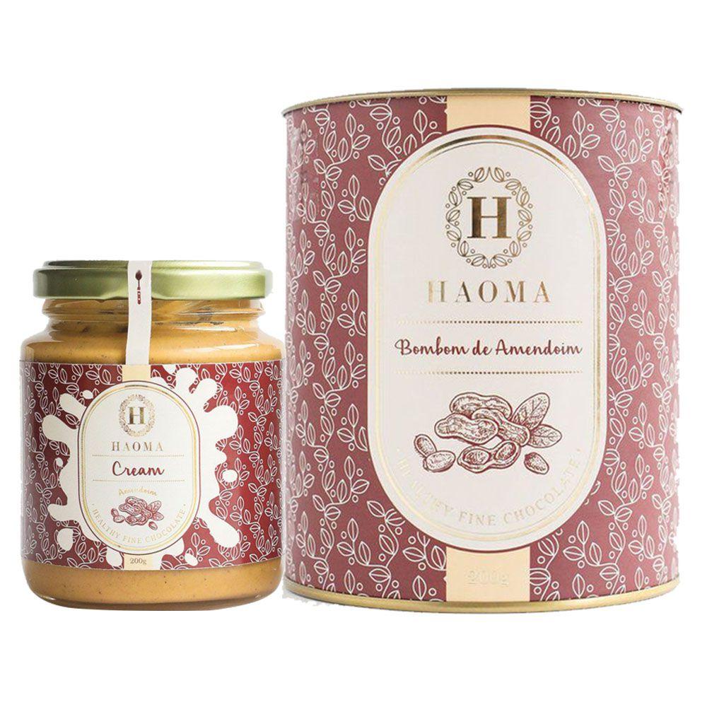 Haoma Cream Amendoim + Bombom de Chocolate Belga Amendoim  - KFit Nutrition