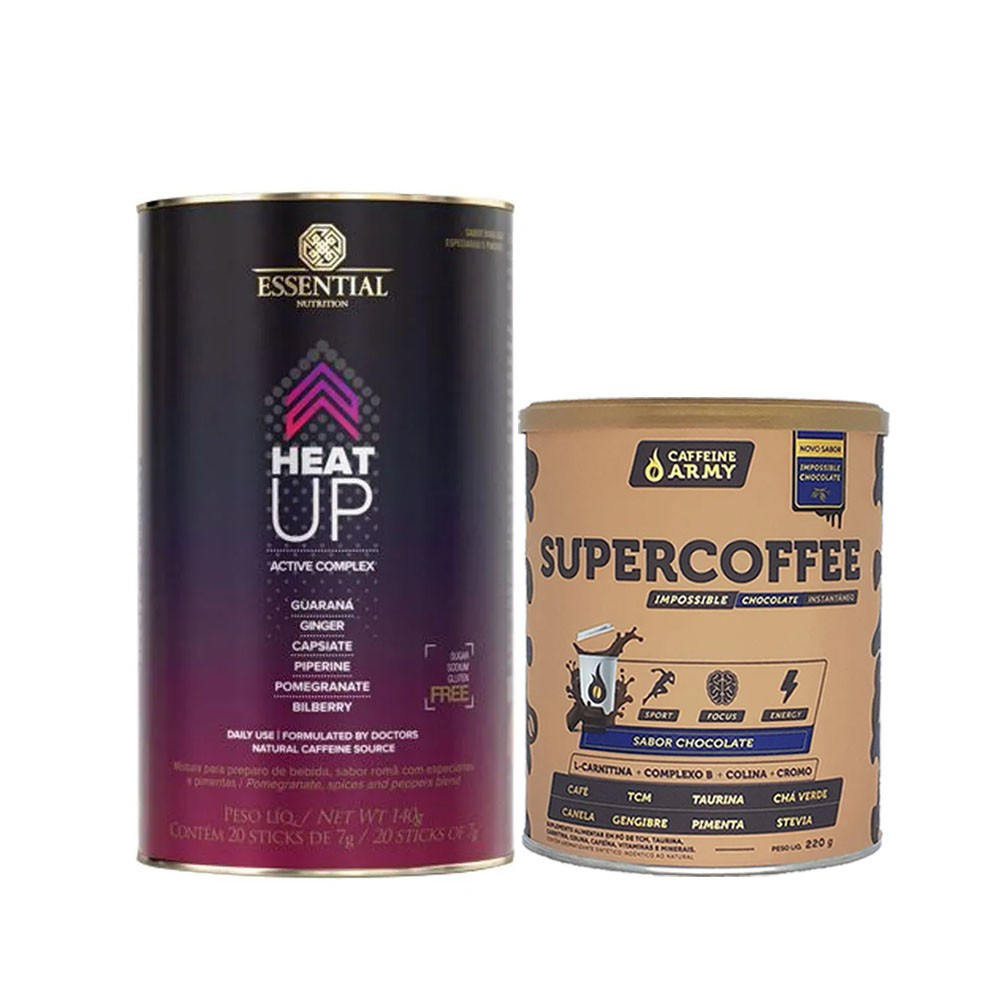 Heat Up 140g  e Supercoffee 220g Chocolate  - KFit Nutrition