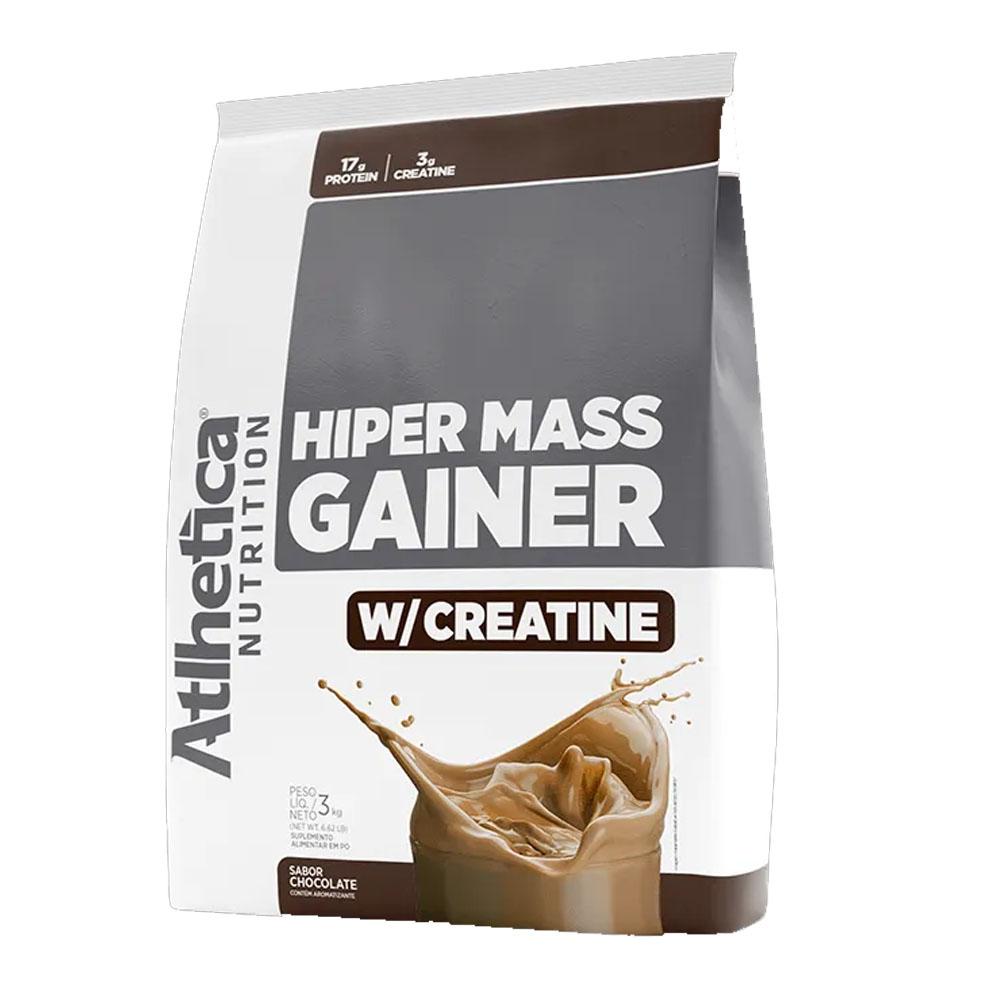 Hiper Mass Gainer 3Kg Chocolate - Atlhetica Nutrition  - KFit Nutrition