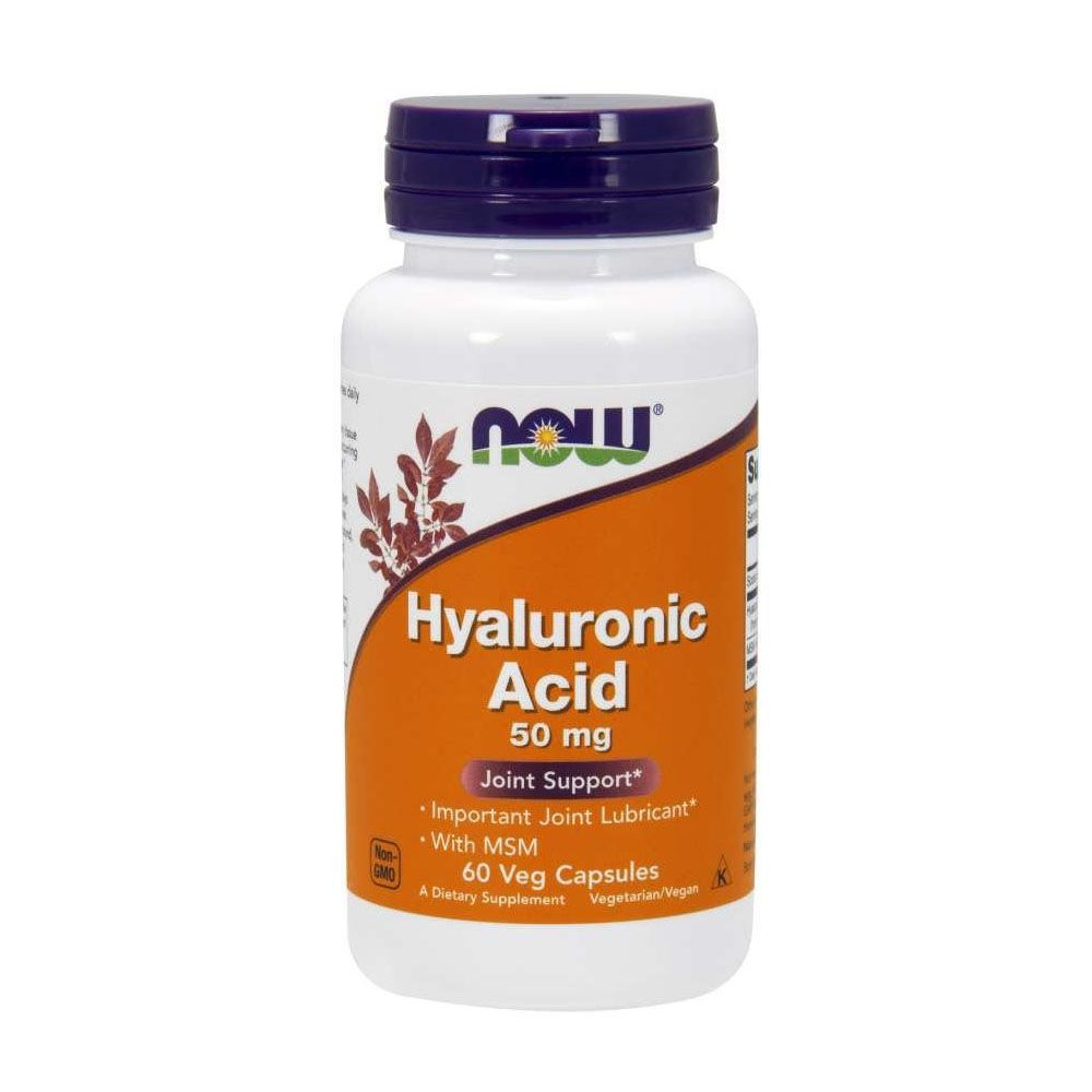 Hyaluronic Acid 50mg 60 Caps Now  - KFit Nutrition