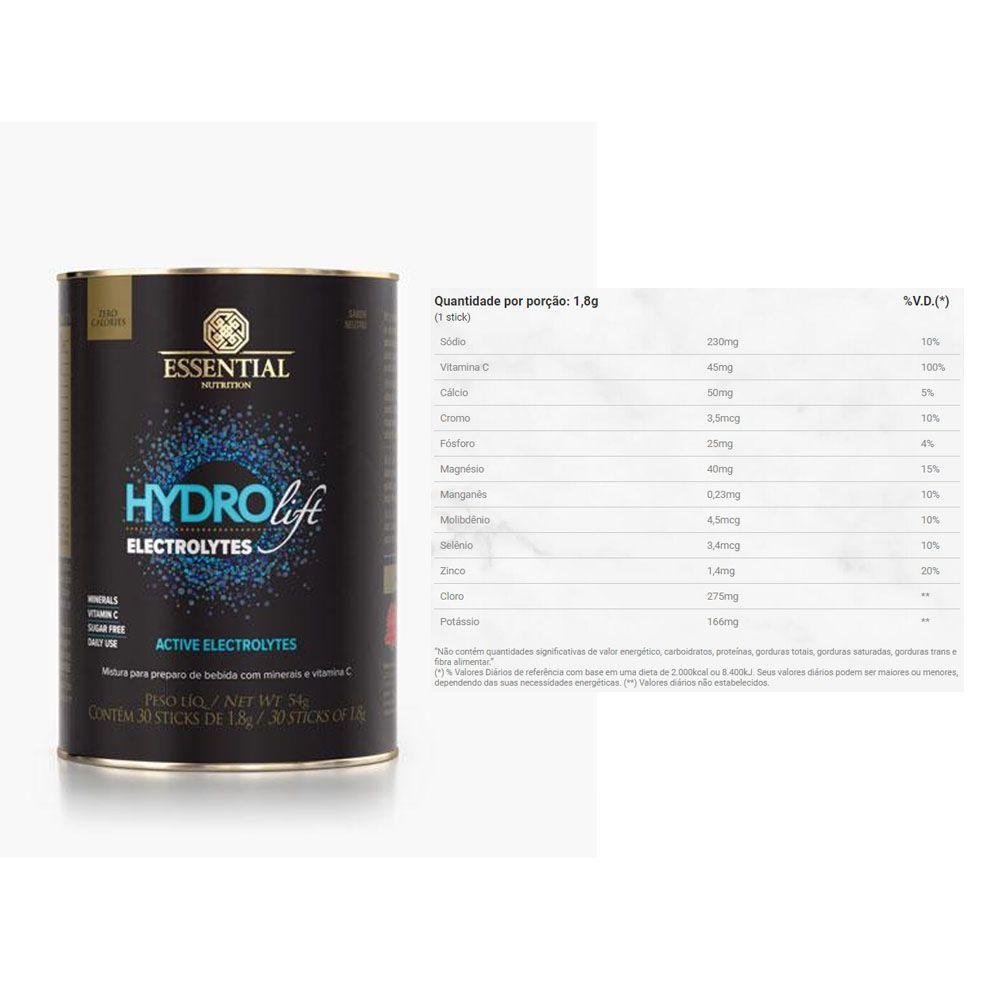 Hydrolift Electrolytes 30 Sticks Neutro -Essential Nutrition  - KFit Nutrition