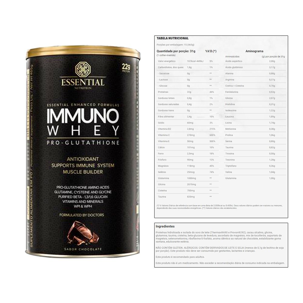 Immuno Whey Pro Cacao Lata 465g e Supercoffee 220g Chocolate  - KFit Nutrition