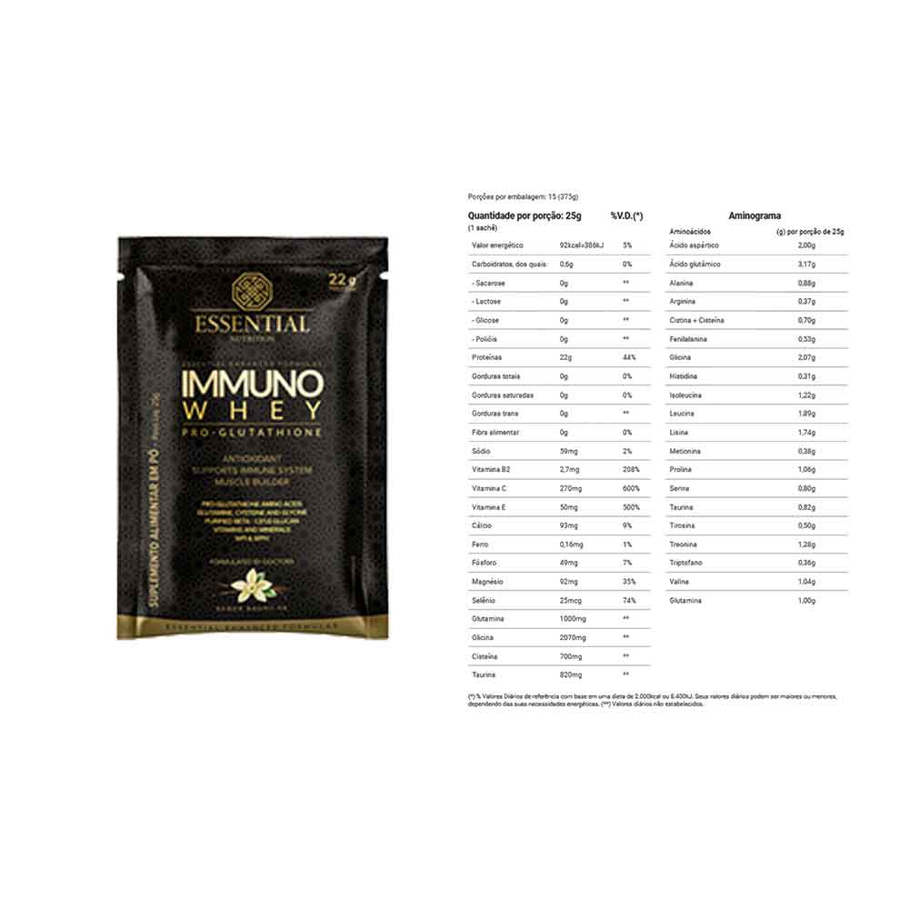 Immuno Whey Pro Glutathione Baunilha 22g - Essential  - KFit Nutrition