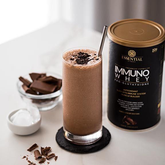 Immuno Whey Pro Glutathione Cacao Lata 465g - Essential  - KFit Nutrition