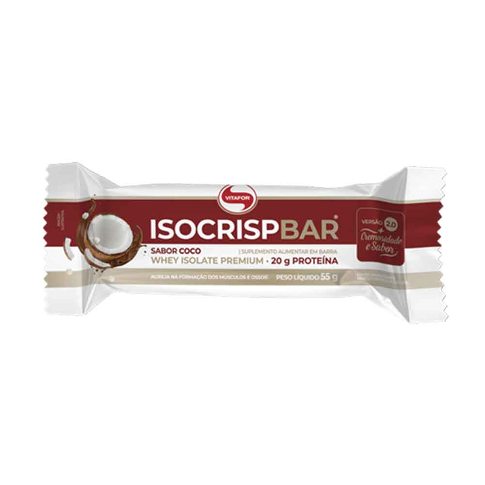 Isocrisp Bar Vitafor Coco 55g Vitafor  - KFit Nutrition