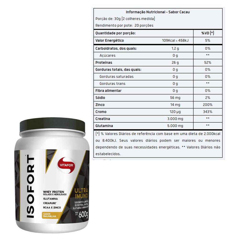 Isofort Ultra Imuno Chocolate 600g - Vitafor  - KFit Nutrition