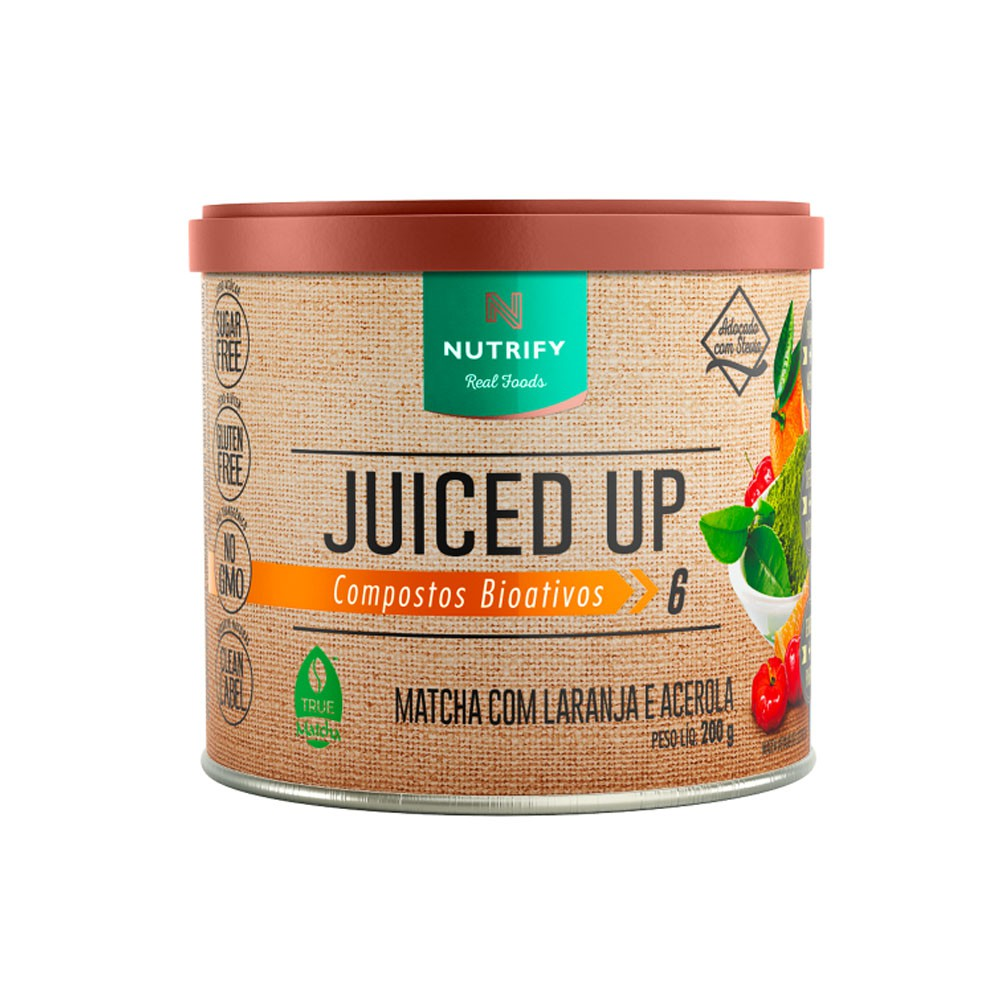 Juiced Up Matcha Com Laranja e Acerola 200g - Nutrify  - KFit Nutrition
