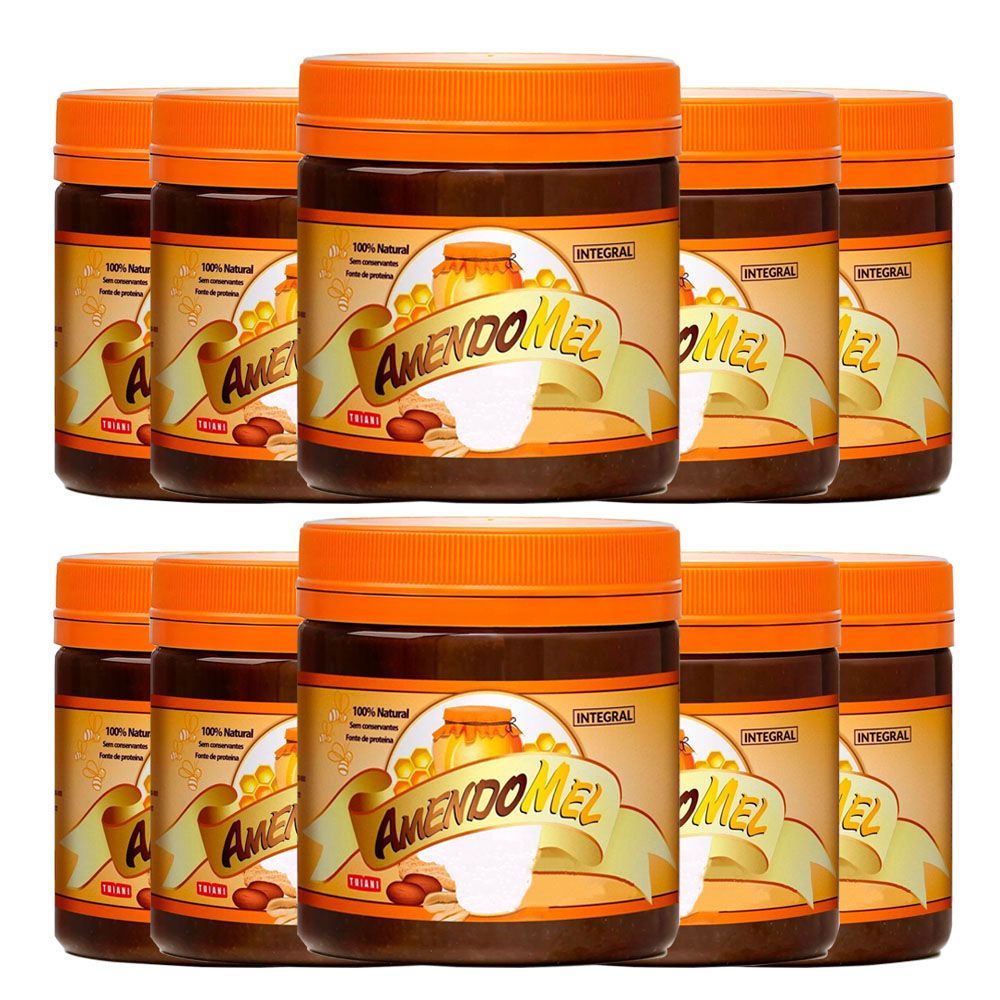 10 un Pasta de Amendoim Amendomel 500g Croc e Cacau Thiani  - KFit Nutrition