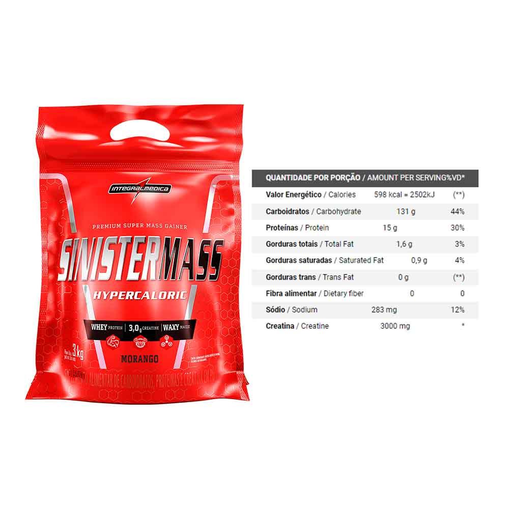 Kit 2 Sinister Mass Baunilha + 1 Morango  - KFit Nutrition