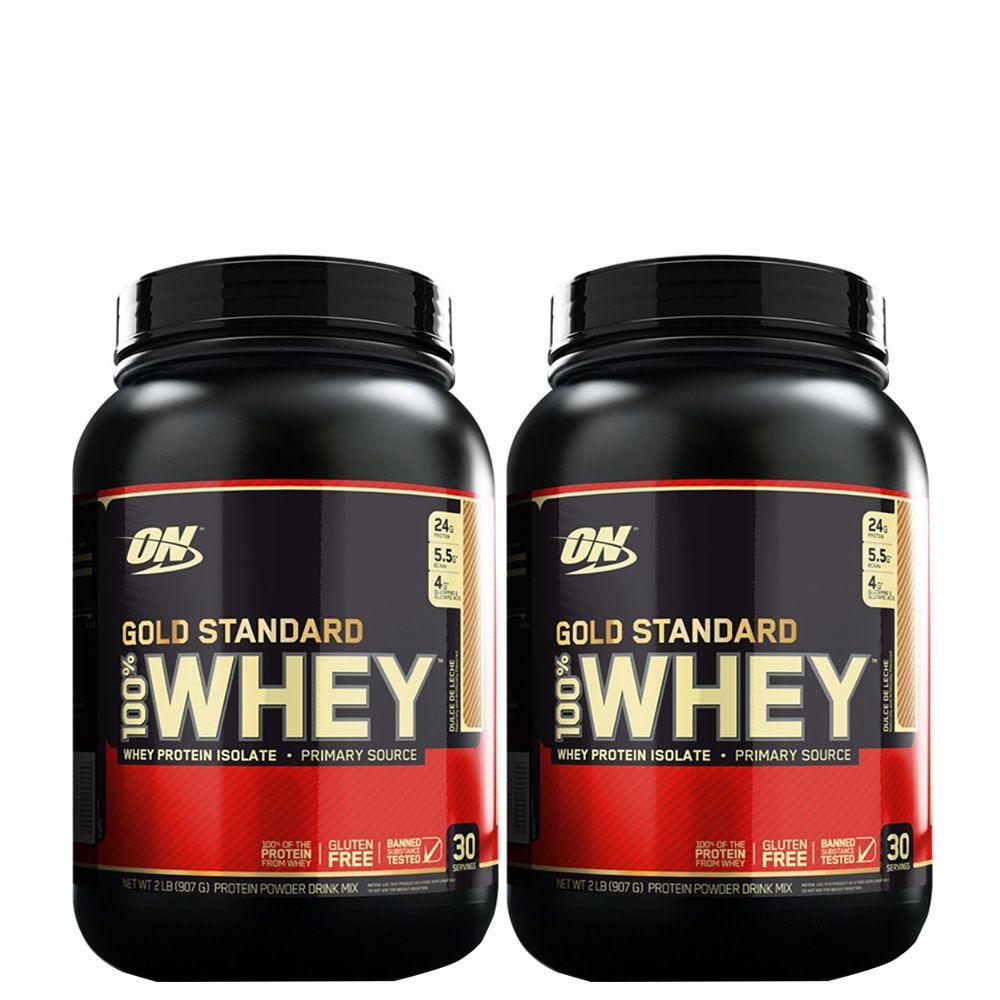 Kit 2 Un 100% Whey Gold Standard 1090G Chocolate  - KFit Nutrition