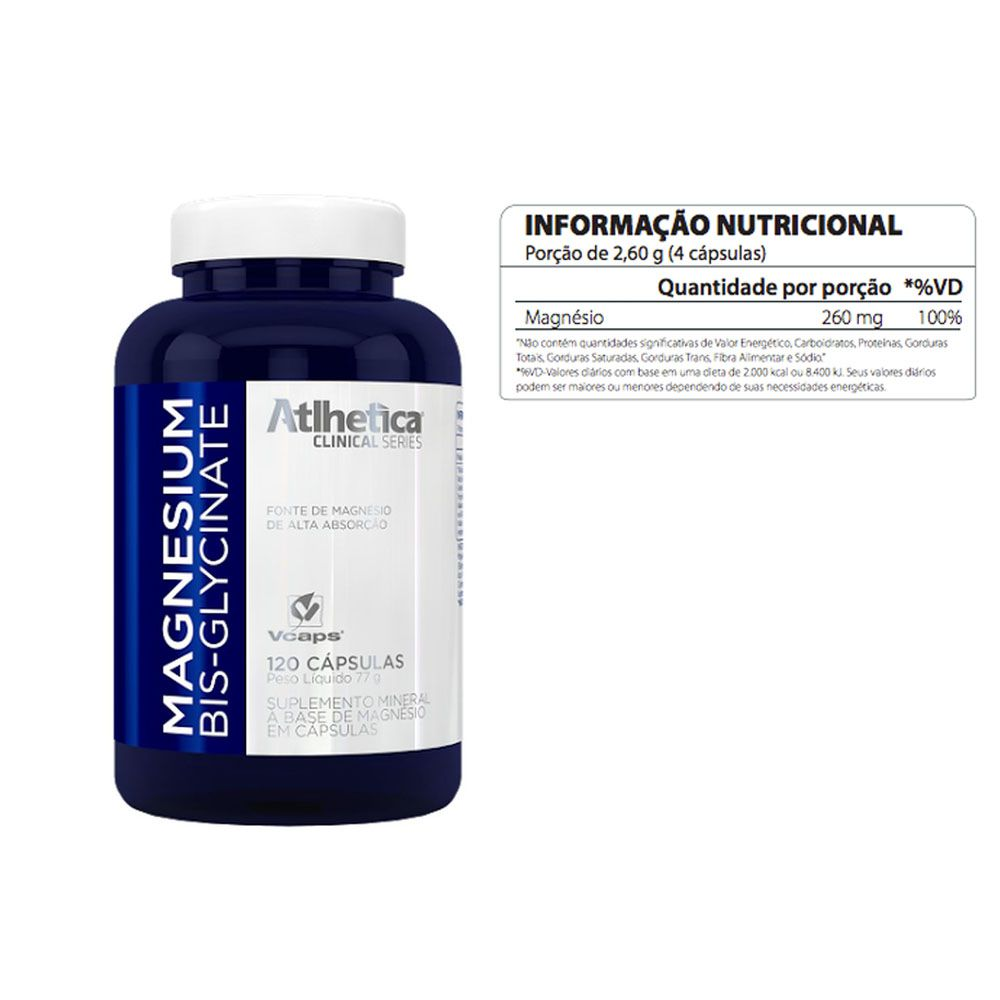 Magnesium Bisglycinate 2 Un  120 CAPS  - KFit Nutrition