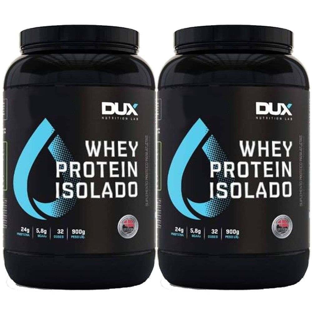 Whey Protein Isolado 900g Coco - Dux 2 Unidades  - KFit Nutrition