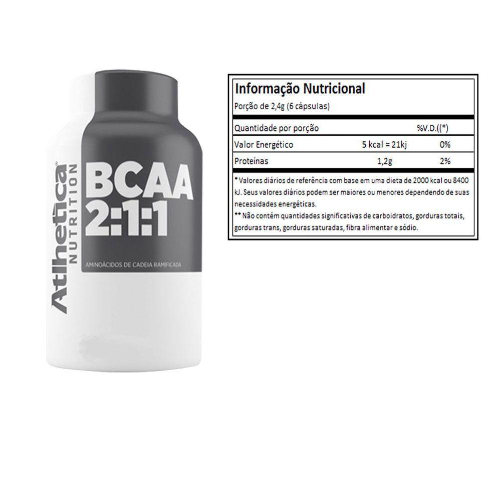 BCAA 2:1:1 60 Caps Atlhetica 3 unidades  - KFit Nutrition