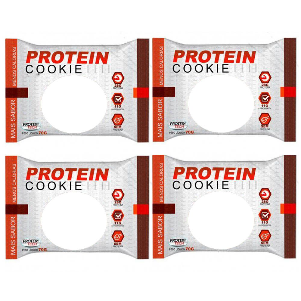 Protein Cookie 27G tradicional Cacau  Proteintech - 4 Unidades  - KFit Nutrition