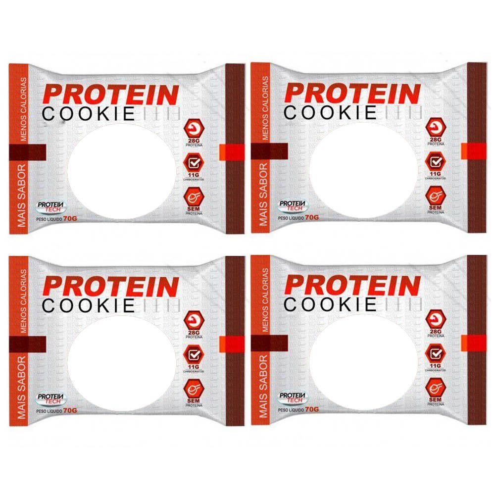 Protein Cookie 27G tradicional Coco 4 Un  Proteintech  - KFit Nutrition