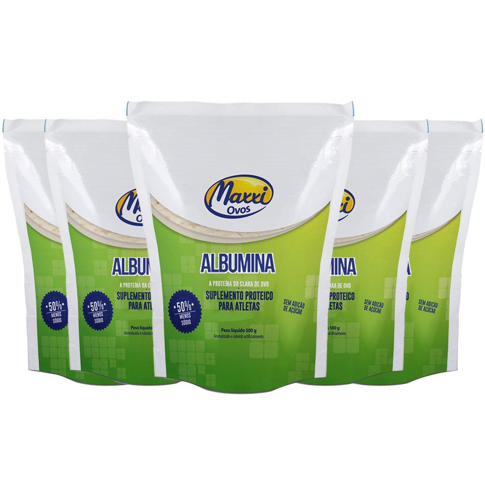 Albumina 500g Chocolate 5 Un MAXXI OVOS  - KFit Nutrition