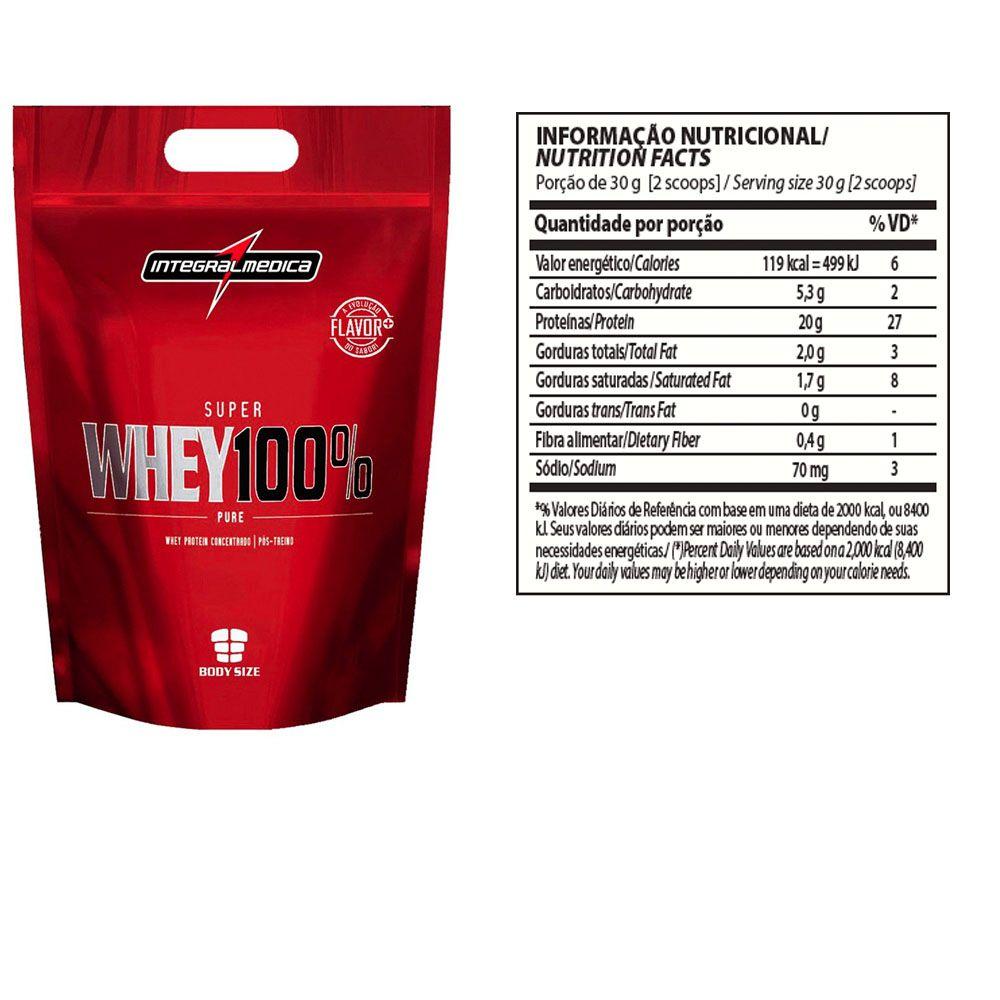 Super Whey 100% Chocolate 5 un 900g Integral Medica  - KFit Nutrition