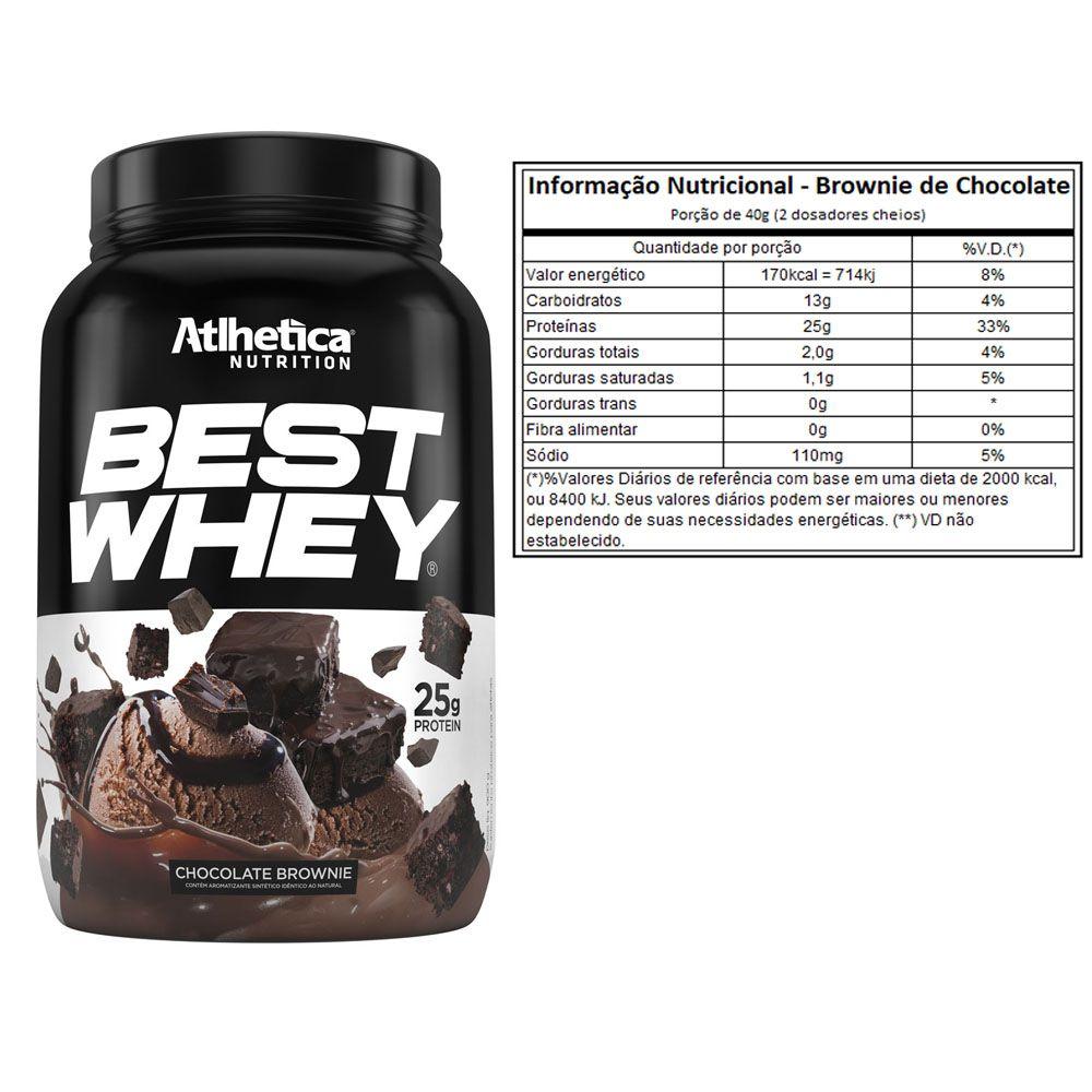 Best Whey Chocolate Brownie 900G + L-Glutamine 300G + Coqueteleira  - KFit Nutrition
